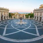 Rome, Italy - The Piazza del Campidoglio square, headquarters of